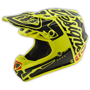 Picture of Troy Lee Kinderhelm 2018 SE4 Geel