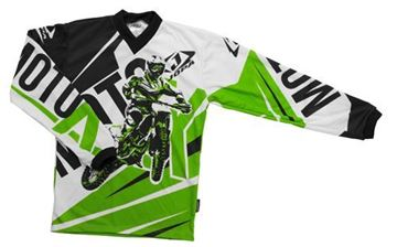 Picture of Jopa moto-x kleding set baby - Groen