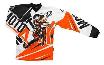 Afbeeldingen van Jopa moto-x kleding set baby - Oranje
