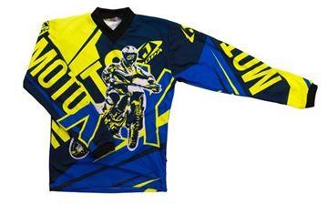 Afbeeldingen van Jopa moto-x kleding set baby - Blauw / Geel