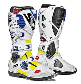 Picture of Sidi crossfire 3  -  White Blue yellow fluo