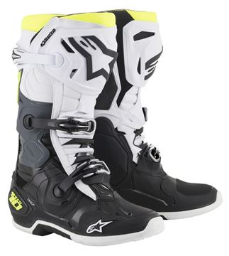 Picture of Alpinestar TECH10 BOOTS 2019 - Black White Yellow fluo