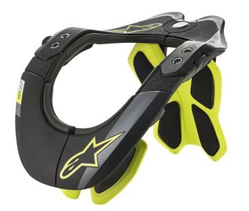 Picture of BNS Tech 2 Neckbrace - Black/Yellow - Alpinestars