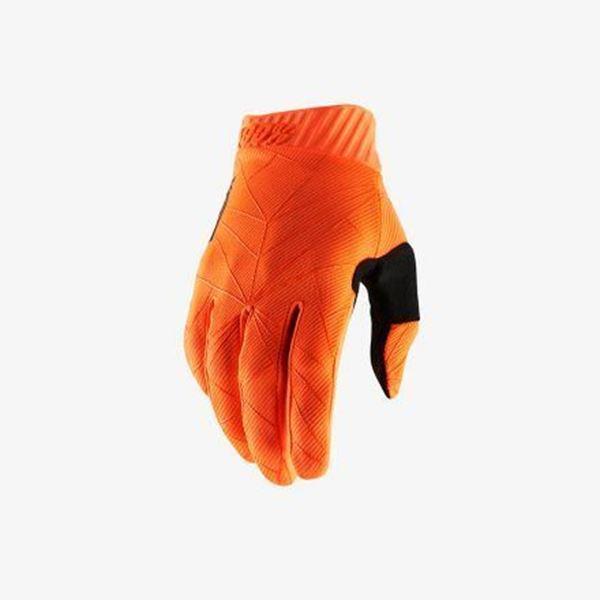 Afbeelding van 100% Handschoen RideFit - Black/Orange