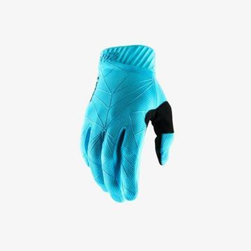 Picture of 100% Handschoen RideFit - Black/Ice Blue