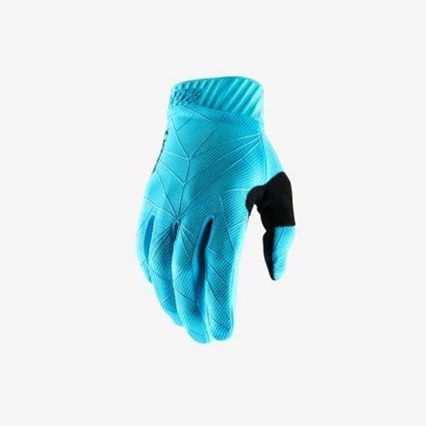 Afbeelding van 100% Handschoen RideFit - Black/Ice Blue