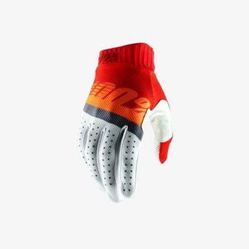 Picture of 100% Handschoen RideFit - Red/Fluo Orange/Blue