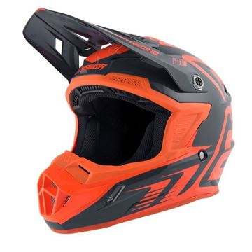 Afbeeldingen van Answer AR1 Youth Helmet - Charcoal/Orange