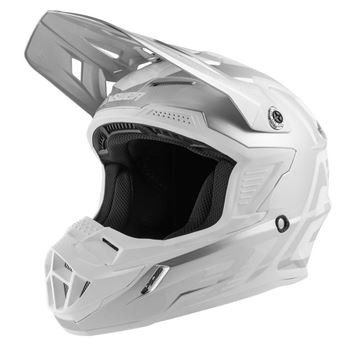 Afbeeldingen van Answer AR1 Youth Helmet - White/Silver