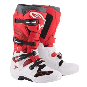 Afbeeldingen van TECH 7  MX BOOT - White/Red