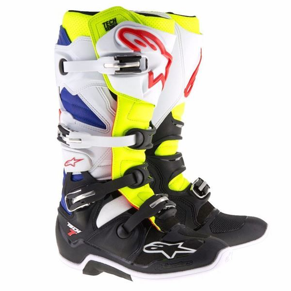 Afbeelding van TECH 7  MX BOOT - White/Fluo Yellow/Blue