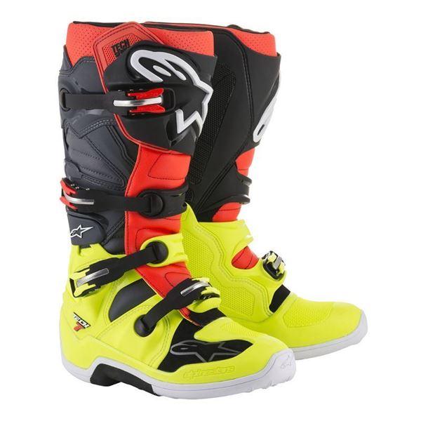 Afbeelding van TECH 7  MX BOOT - Fluo Yellow/Fluo Red/Black