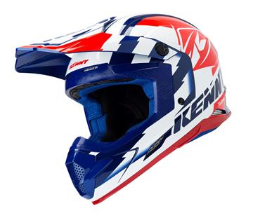 Picture of ADULT TRACK HELMET NAVY WHITE RED