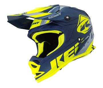 Picture of TRACK KIDS HELMET - Navy/Neon Yellow
