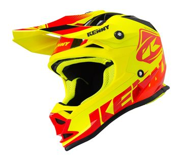 Picture of TRACK KIDS HELMET - Red/Neon Yellow