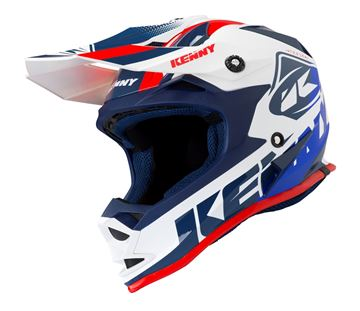 Picture of TRACK KIDS HELMET - White/Red