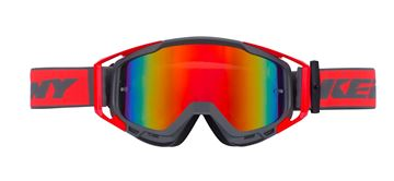 Picture of ADULT PERFORMANCE GOGGLES GREY NEON RED