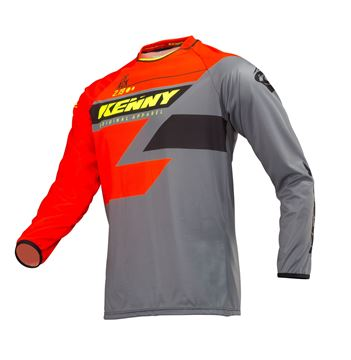 Picture of ADULT TRACK JERSEY ORANGE GREY NEON YELLOW