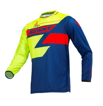Picture of KIDS TRACK JERSEY LIME NAVY RED