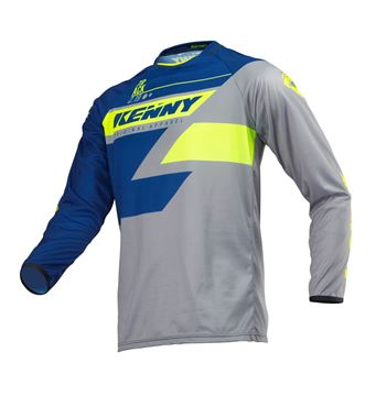 Picture of KIDS TRACK JERSEY NAVY LIME