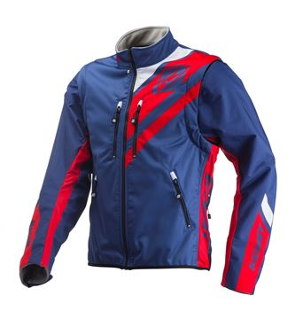 Picture of ENDURO SOFTSHELL JACKET NAVY RED