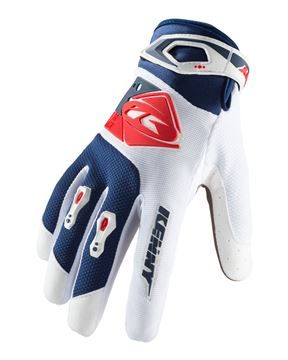 Picture of ADULT TRACK GLOVES WHITE NAVY RED