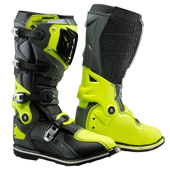Picture of TITANIUM BOOTS GREY NEON YELLOW