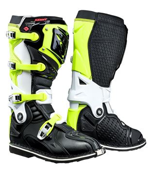Picture of TITANIUM BOOTS BLACK WHITE NEON YELLOW