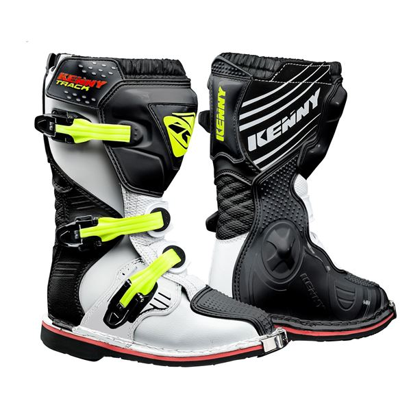 Picture of JUNIOR TRACK BOOTS WHITE BLACK NEON YELLOW