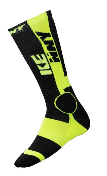 Afbeelding van MX TECH SOCKS BLACK NEON YELLOW