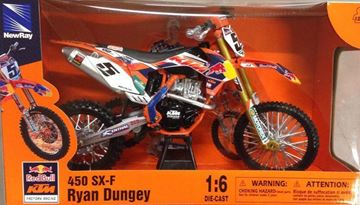 Picture of Miniatuur motor 1:6 KTM Ryan Dungey (#1)