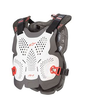 Afbeeldingen van A-1 PLUS CHEST PROTECTOR WIT - 2020
