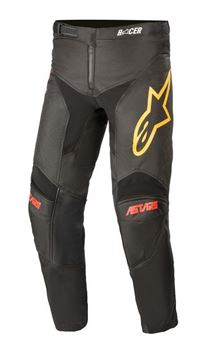 Afbeeldingen van Youth Racer Venom Pants - Black/Bright Red/Orange - Alpinestar