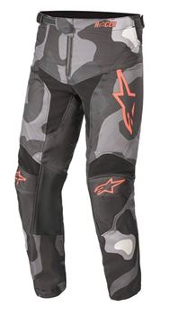 Afbeeldingen van Youth Racer Tactical Pants - Gray Camo/Red Fluo - Alpinestar