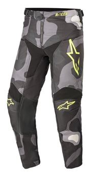 Afbeeldingen van Youth Racer Tactical Pants - Gray Camo/Yellow Fluo - Alpinestar