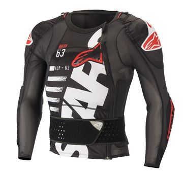 Picture of Sequence LS Protection Jacket - Black/White/Red - Alpinestars