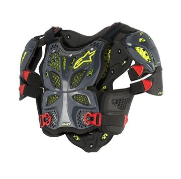 Picture of A-10 Full Chest Protector - Black/Red - Alpinestars