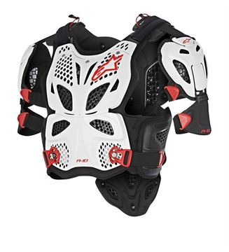 Picture of A-10 Full Chest Protector - White/Black/Red - Alpinestars