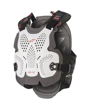 Picture of A-4 Max Chest Protector - White/Red - Alpinestars
