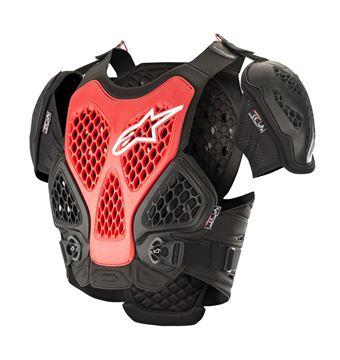 Afbeeldingen van Bionic Chest Protector - Black/Red - Alpinestars