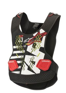 Picture of Sequence Chest Protector - Black/White/Red - Alpinestars