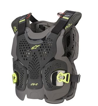 Picture of A-1 Plus Chest Protector - Black/Yellow - Alpinestars