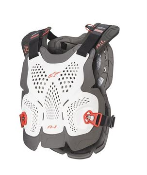 Picture of A-1 Plus Chest Protector - White/Anthracite/Red - Alpinestars