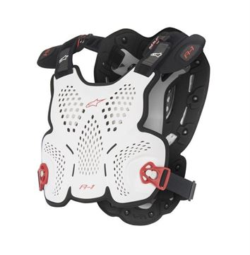 Picture of A-1 Roost Guard - White/Black/Red - Alpinestars