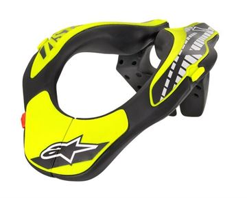 Picture of Youth Neck Support - Black/Yellow - Alpinestars