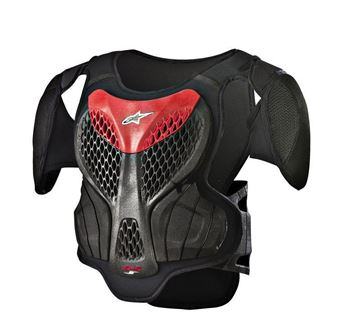 Picture of A-5 S | Youth | Body armour - Black/Red -  Alpinestars