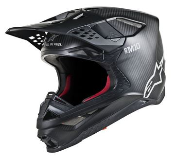 Picture of Supertech M10 Solid Helmet - Black Matt/Carbon - Alpinestars