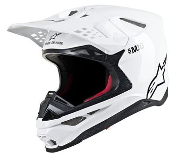 Picture of Supertech M10 Solid Helmet - White Glossy - Alpinestars