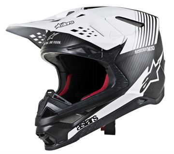 Picture of Supertech M10 Dyno Helmet - Black Matte/Carbon/White - Alpinestars
