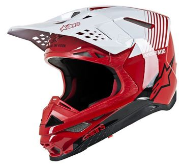 Picture of Supertech M10 Dyno Helmet - Red/White Glossy - Alpinestars